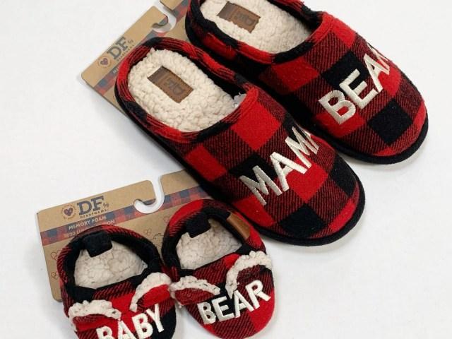 Dearfoams Mama Bear and Baby Bear Slippers