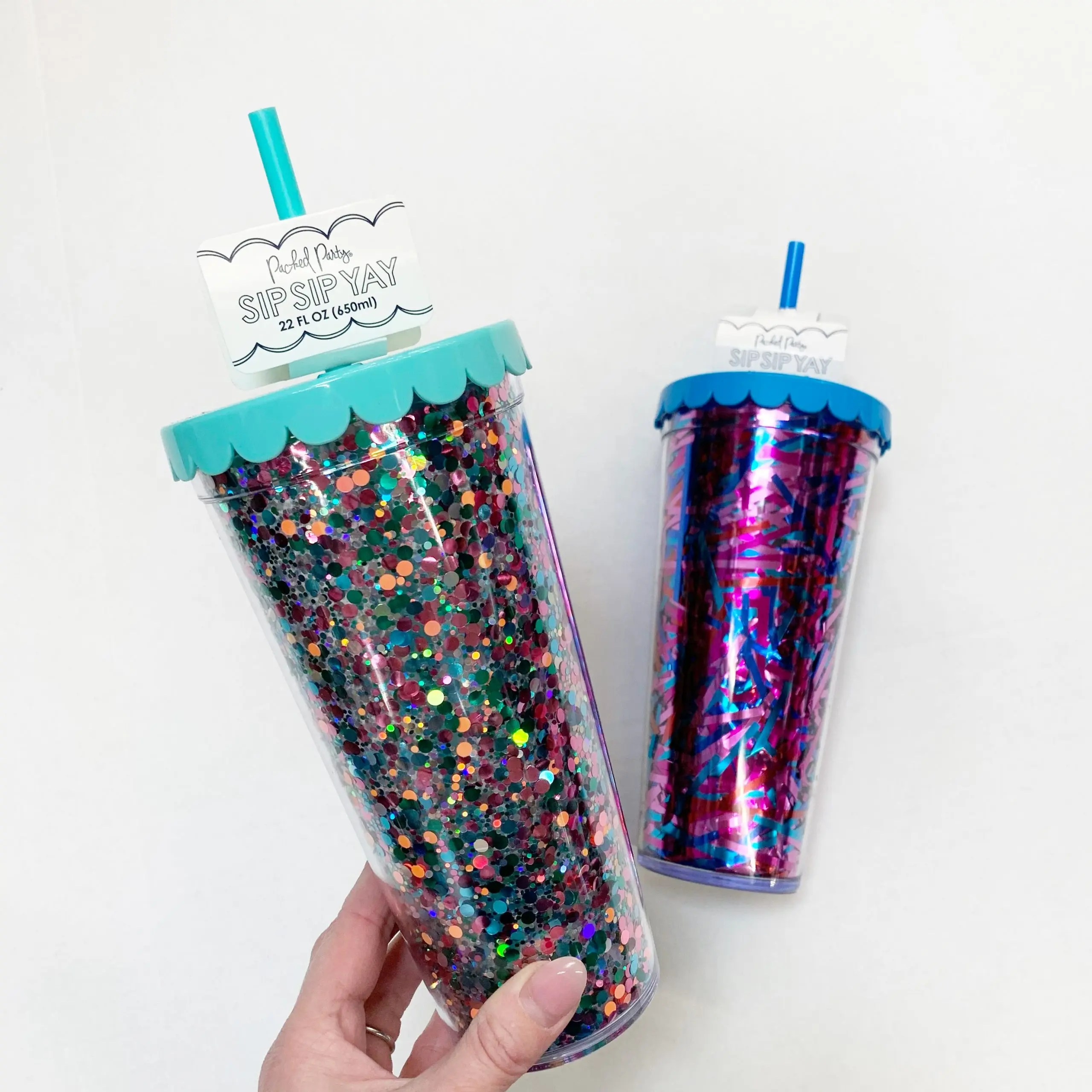 Packed Party Bright Confetti and Magical Tinsel Tumblers