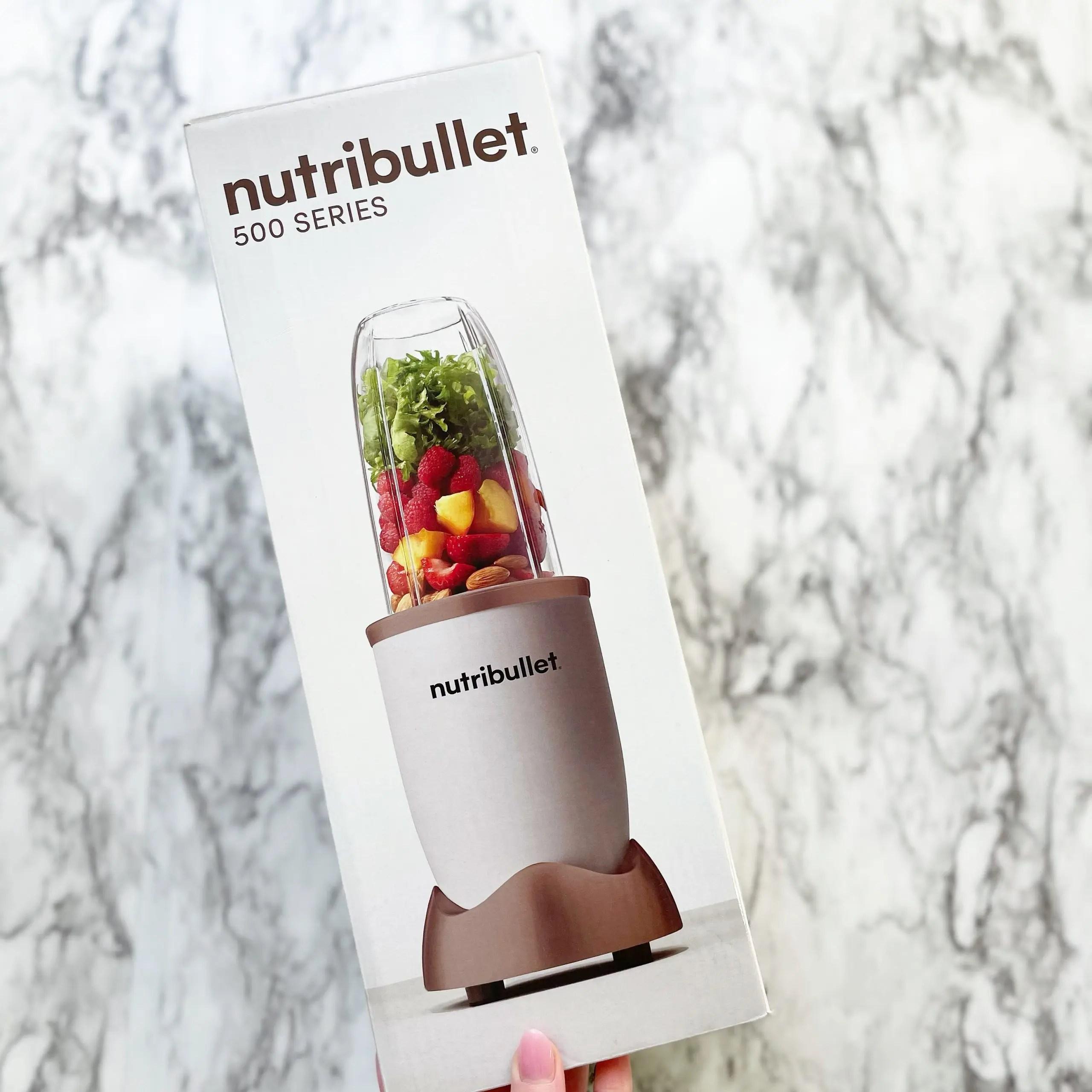 NutriBullet 500 Blender matte white and rose gold