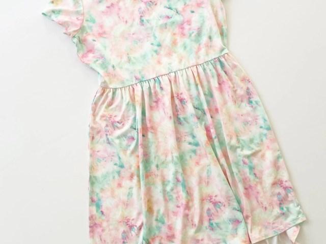Social Edition Girls Printed Tie Dye Yummy Dress