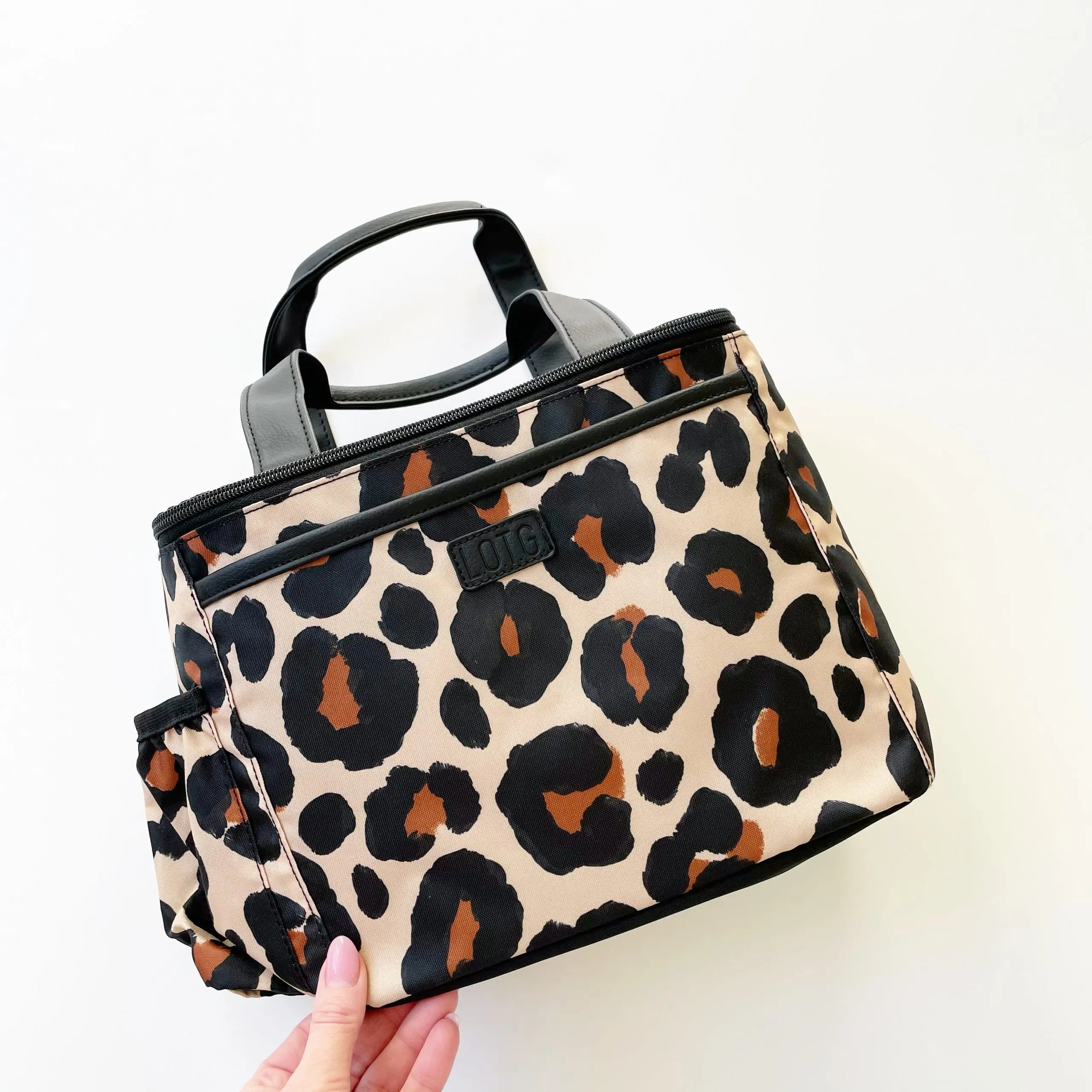 Fit+Fresh Leopard Print Lunch Bag Lunch on the Go | Lunch Bag for Women | Insulated Lunch Tote for Ladies, Girls, Female | Large Reusable Soft Lunch Box Purse Cooler for School, Work, Office | Large Lunch Tote (Leopard)