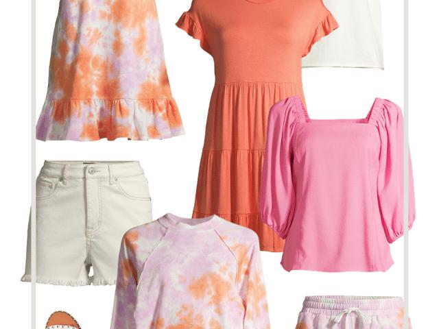 Scoop New Arrivals – Coral Tie Dye