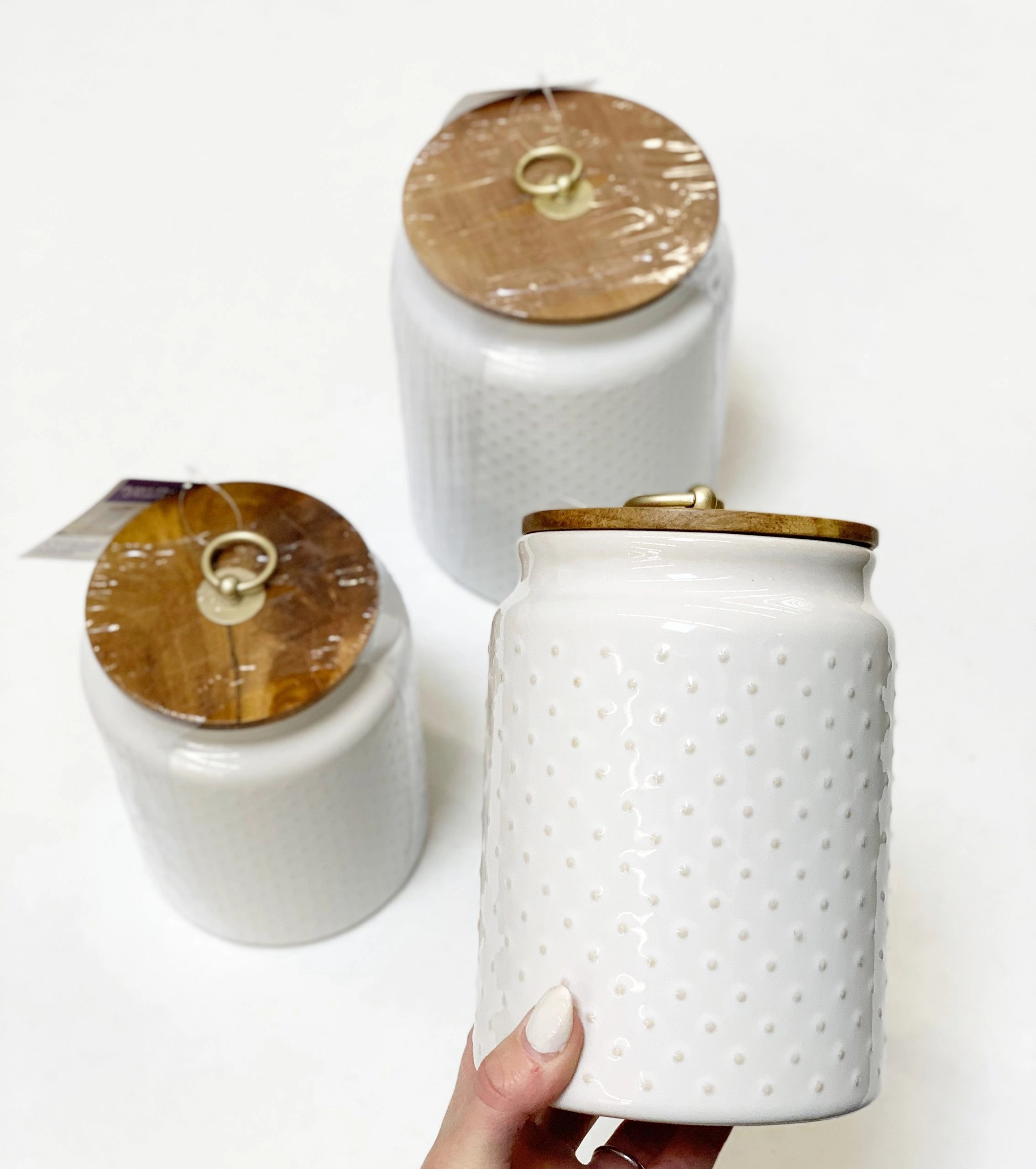 Better Homes & Gardens Ceramic Hobnail Canisters