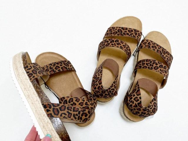 Mommy & Me Matching Sandals – Time and Tru + Wonder Nation Leopard Print Flatform Sandals