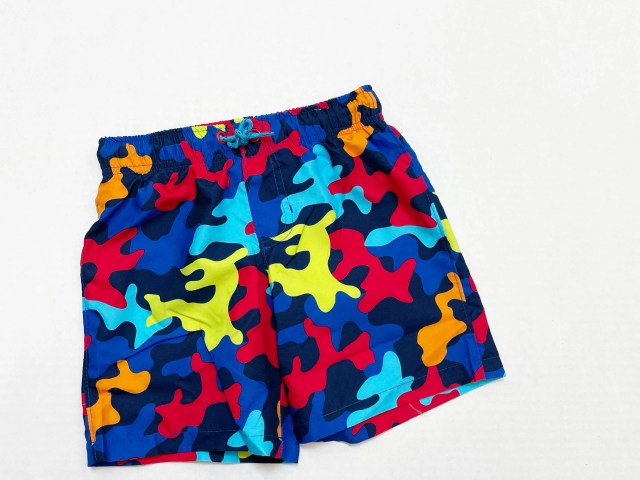 Wonder Nation Boys Camo Everyday Swim Shorts