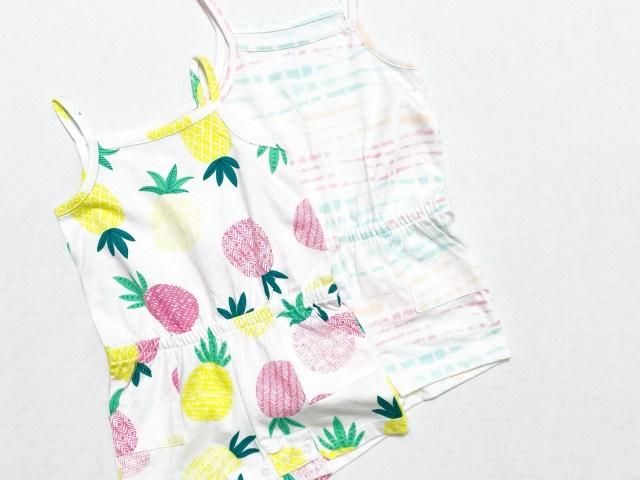 Wonder Nation Baby & Toddler Girls Knit Romper