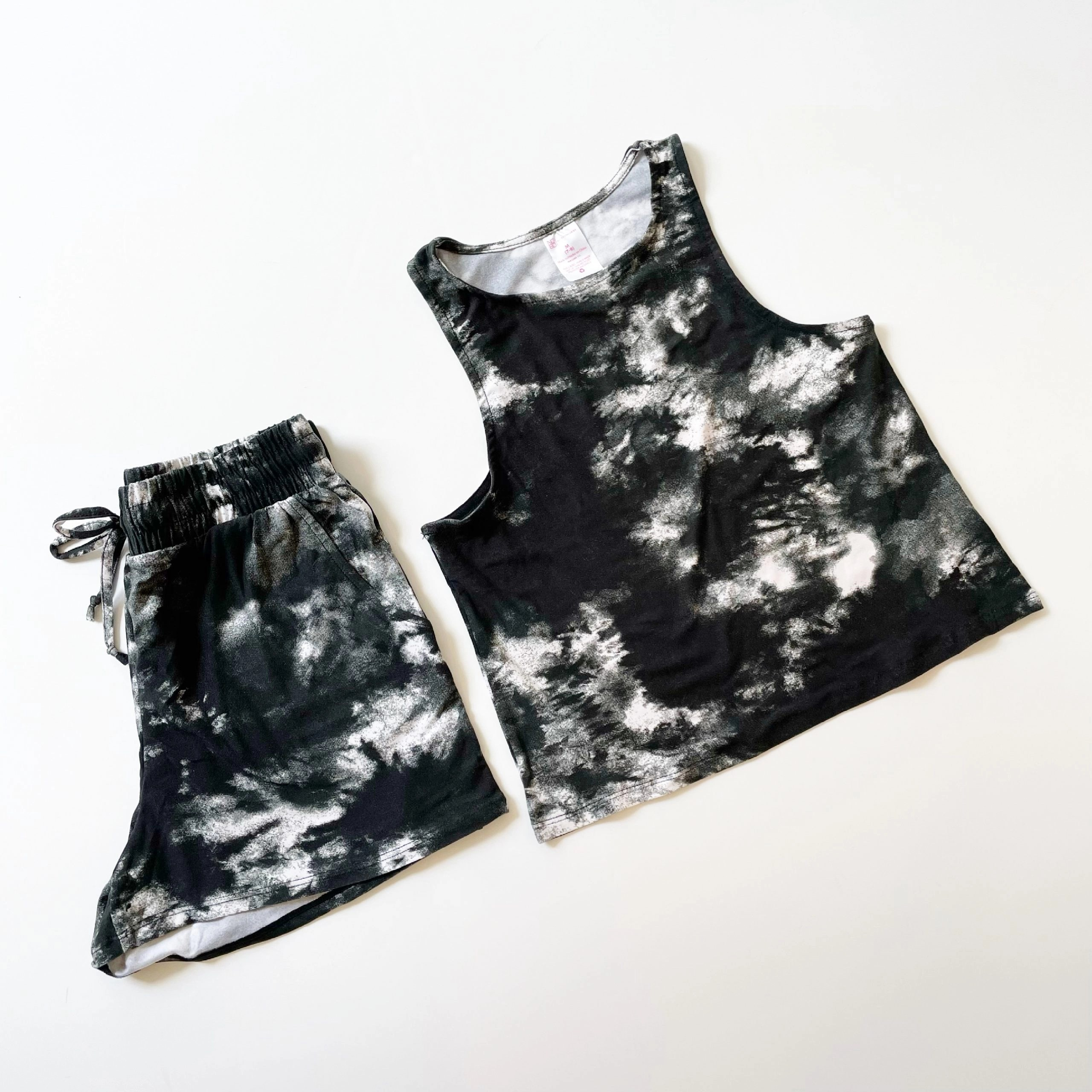 No Boundaries Tie Dye Tank Top and Shorts Set