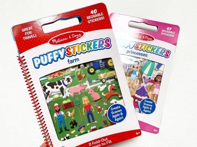 Melissa & Doug Puffy Stickers – Farm and Princesses