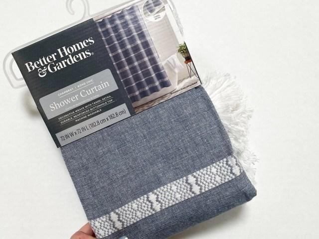 Better Homes & Gardens Blue Chambray Boho Chic Shower Curtain