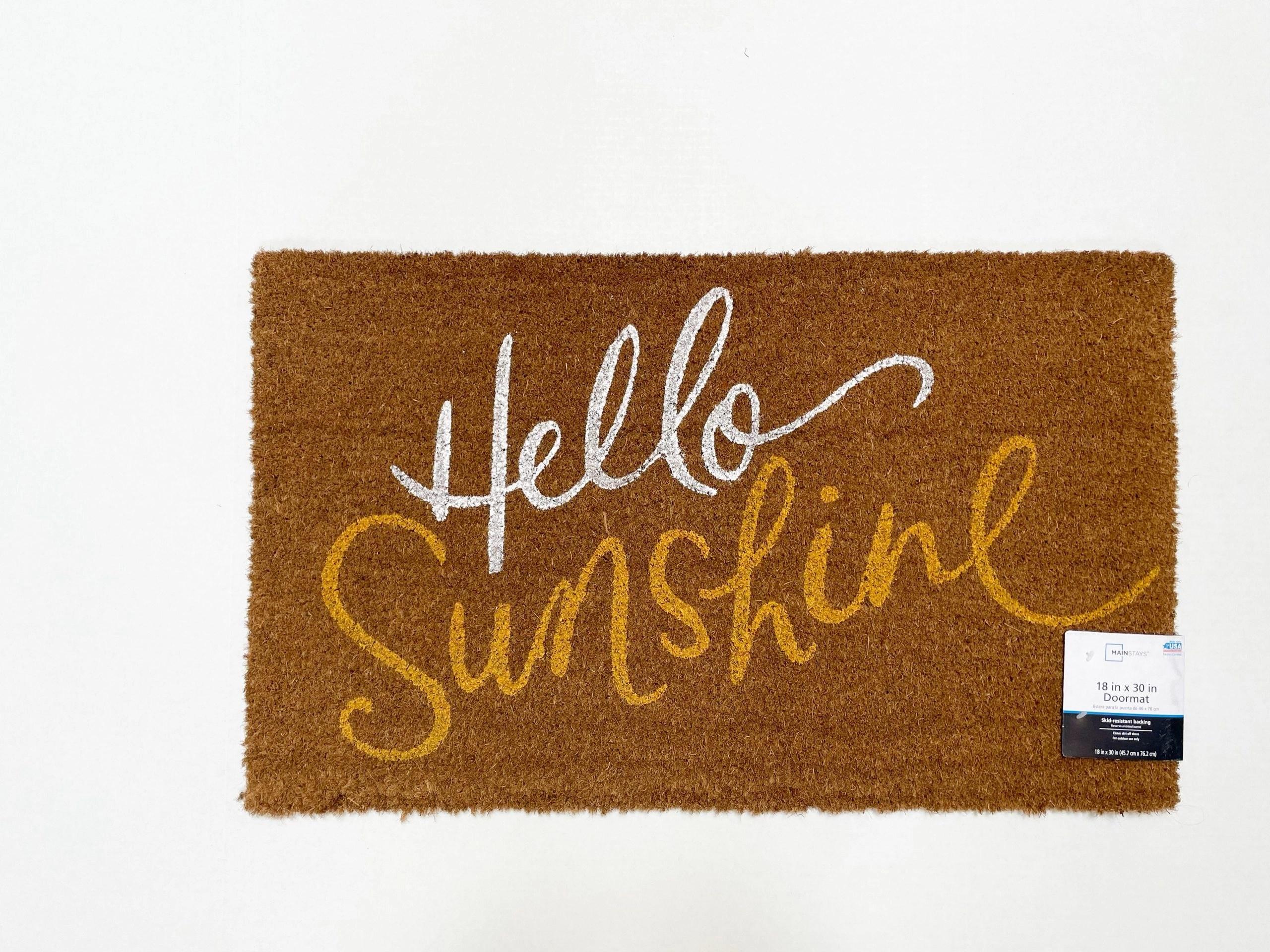 Mainstays Hello Sunshine Coir Doormat