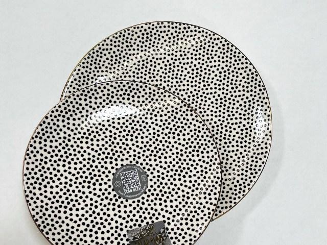 Thyme & Table Black & White Dot Stoneware