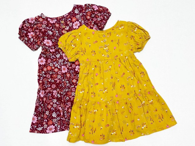Wonder Nation Autumn Gold Baby and Toddler Girl's Woven Dress
