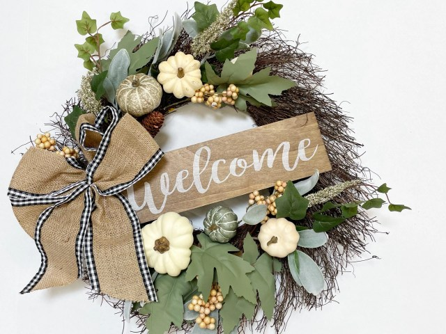 Way To Celebrate Harvest Welcome Wreath