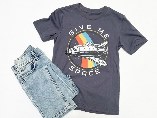 """Wonder Nation Boys """"Give Me Space"""" Short Sleeve Graphic T-Shirt and Slim Jeans"""