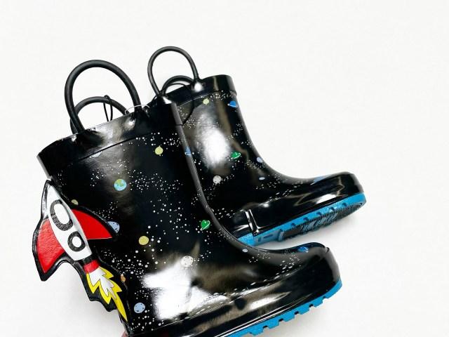 Wonder Nation Space Galaxy Rain Boot