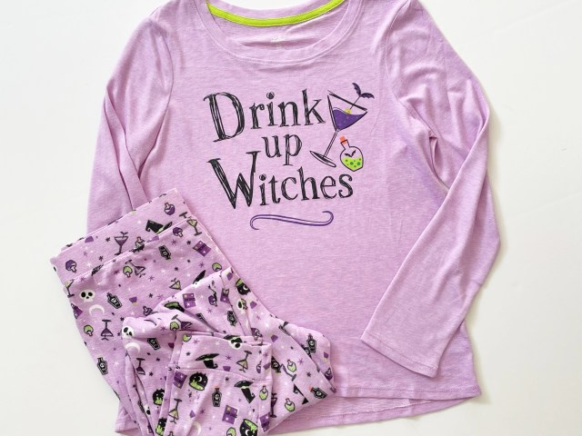 "Secret Treasures ""Drink Up Witches"" Halloween Pajama Set"