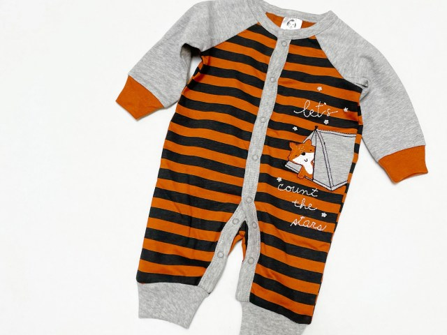 """Gerber Baby Boy """"Let's Count The Stars"""" Fox Coverall"""