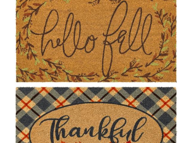Mainstays Hello Fall and Thankful Doormats