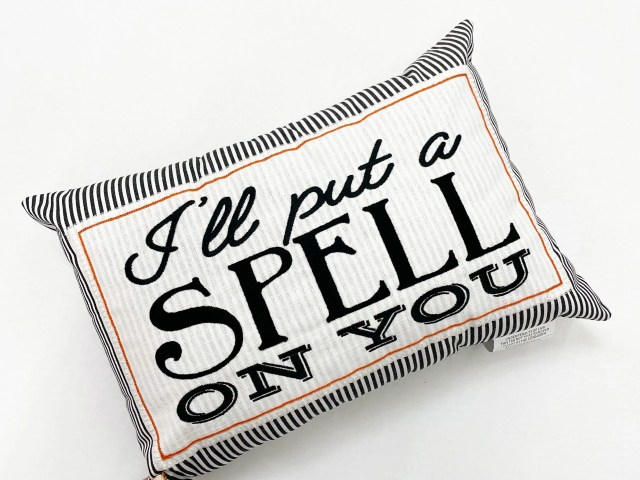 """Mainstays """"I'll Put A Spell On You"""" Pillow"""