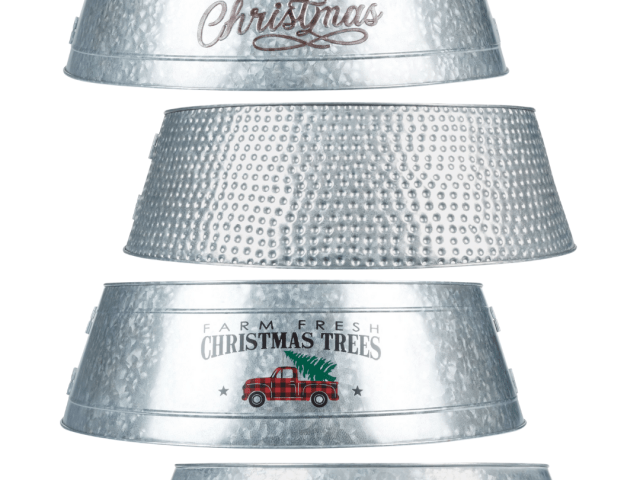 Holiday Time Galvanized and Metal Tree Collars