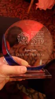January: Won Club of the Year for 2019 at the Sutton Coldfield Sports Awards. Indoor Cricket Training started, Football , Darts, and Basketball continued