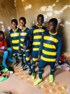 Champions Soccer Academy, Ghana in Walmley kit