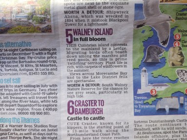 Feature from Saturday's Mail 30th May re North Walney Reserve - Copy