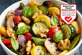 Roasted Vegetables with Walnuts Basil and Balsamic Vinaigrette