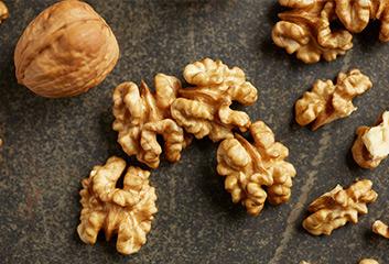 close up walnuts