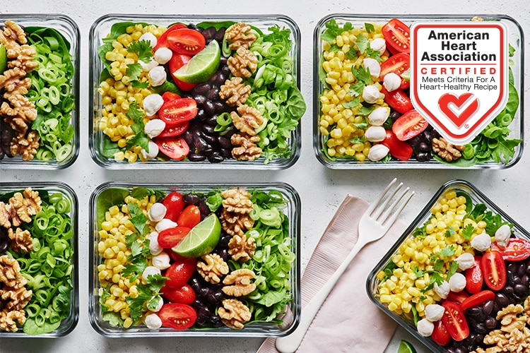 Corn Tomato Blackbean Walnut Salad