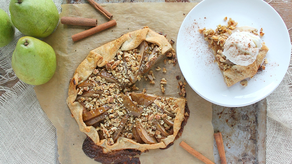 Rustic Pear and Walnut Galette
