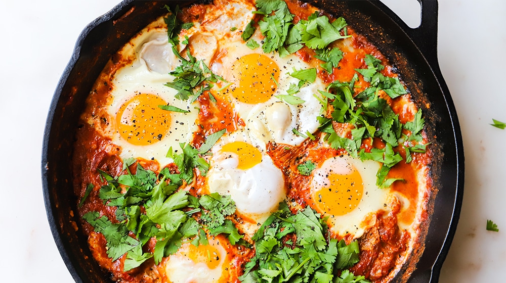 Shakshuka with Walnut Muhammara