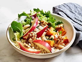 Quinoa Bowl Pear Walnut Butternut Squash Bowl