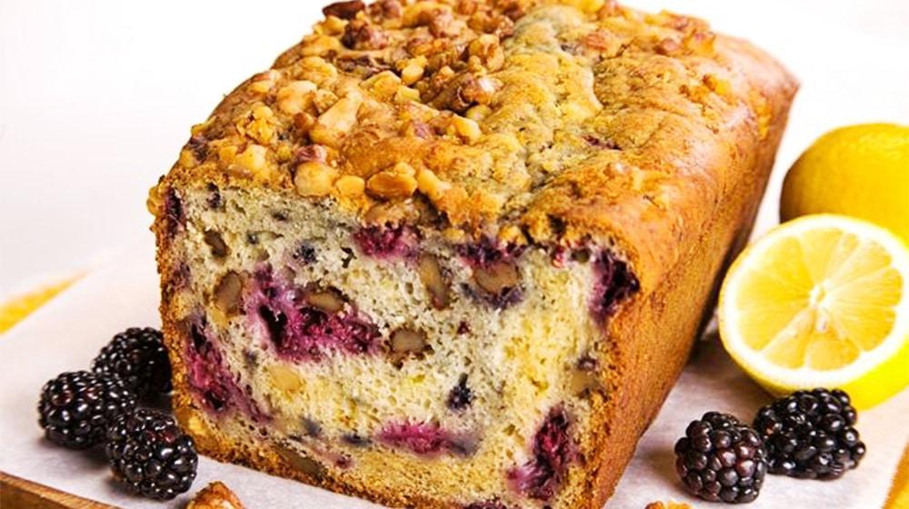 Walnut Blackberry Quickbread