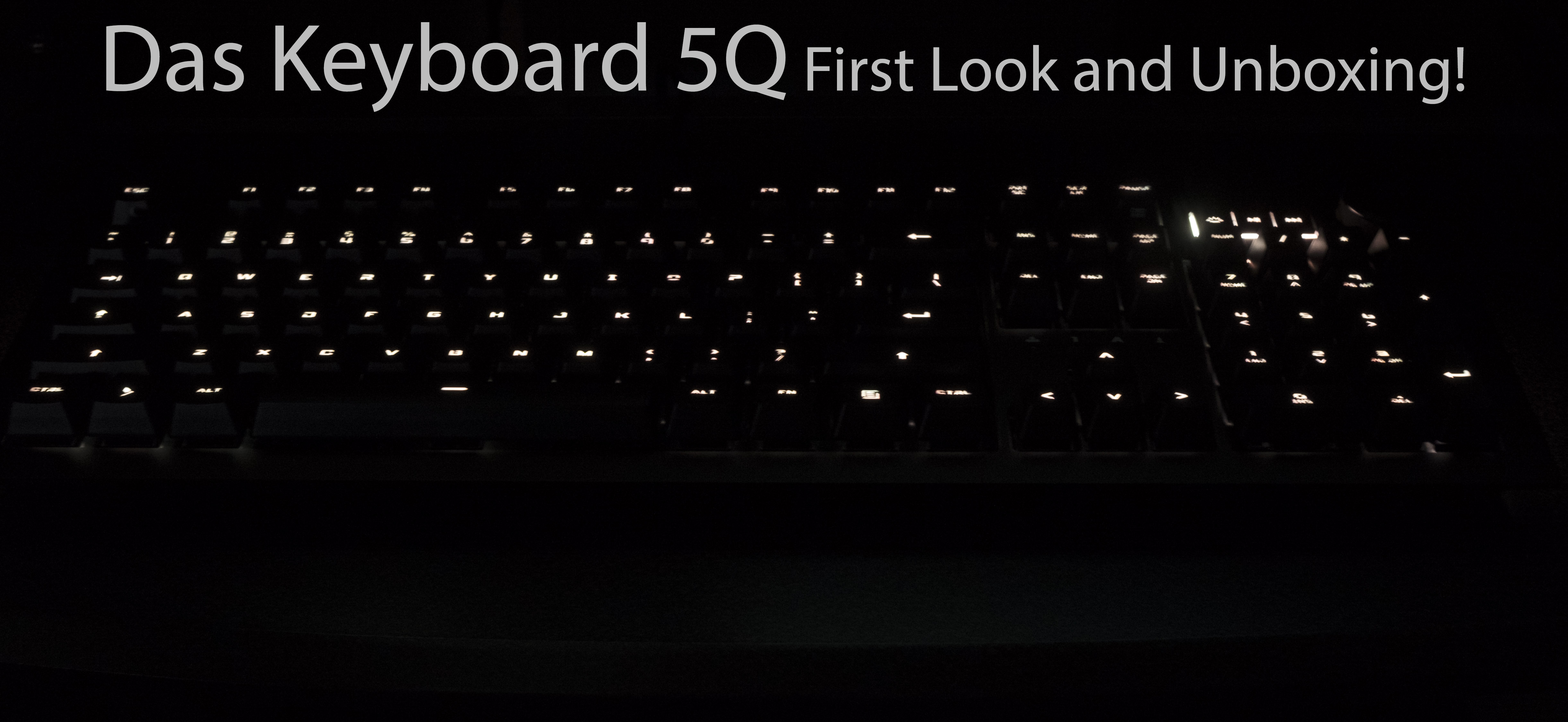 Das Keyboard 5Q unboxing and first look