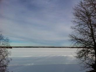 Snowy Lake Isle. How can you not love Alberta?