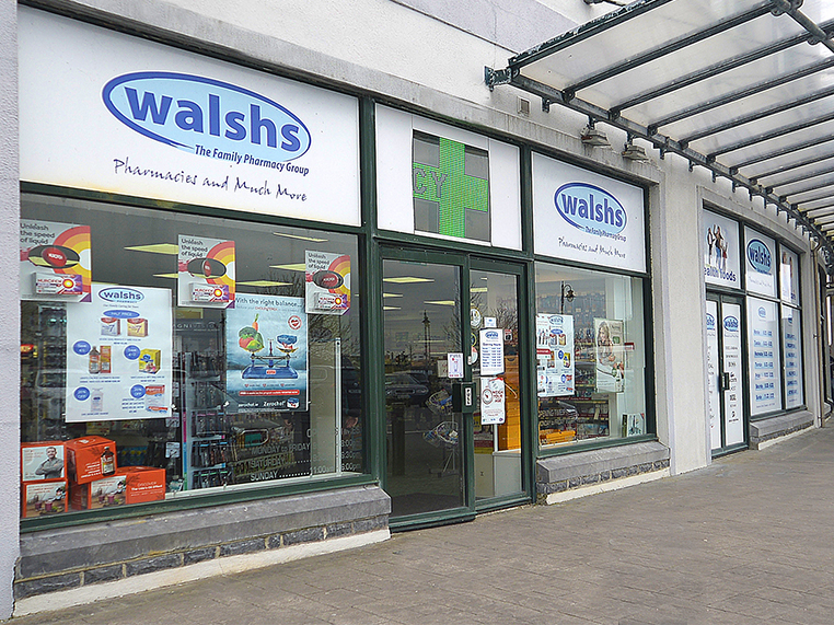 Walsh's Pharmacy, Oranmore Front L→R