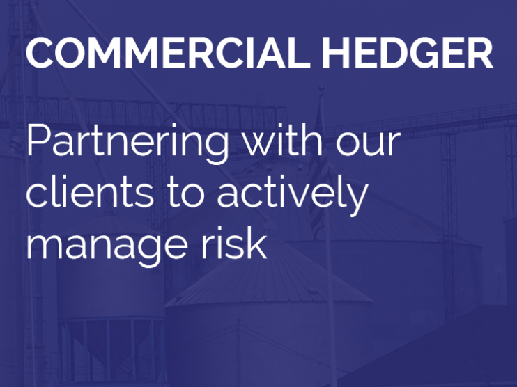 Commercial Hedger - Partnering with out clients to actively manage risk