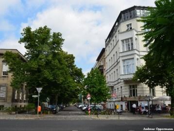 Derfflingerstraße in Berlin von der Kurfürstenstraße im Jahr 2013