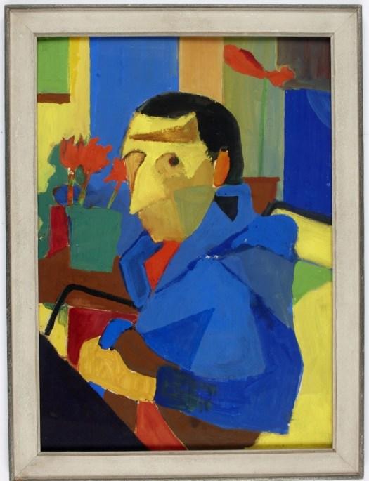 Porträt von Friedrich Dürrenmatt aus dessen Arbeitszimmer