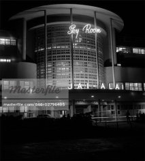 846-02796405 © ClassicStock / Masterfile Model Release: No Property Release: No 1930s NIGHT SHOT OF JAI ALAI NIGHTCLUB CLUB THE SKY ROOM ART DECO BUILDING MANILA PHILIPPINE ISLANDS PHILIPPINES