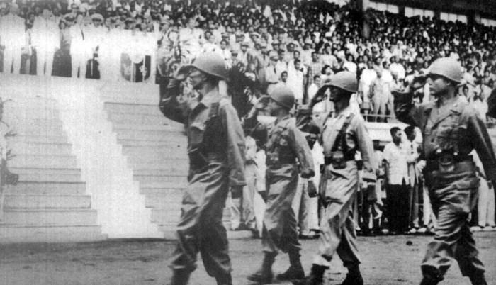 10th BCT parades at Rizal Coliseum prior to deploying to Korea