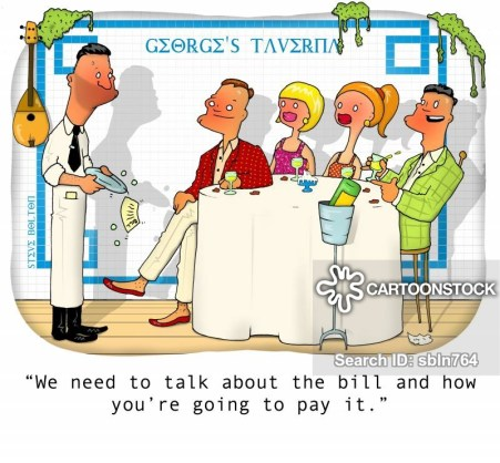 """""""We need to talk about the bill and how you're going to pay it."""""""