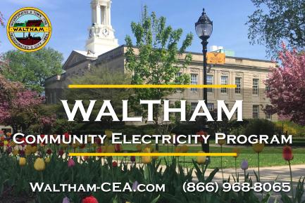 Waltham Community Electricity postcard