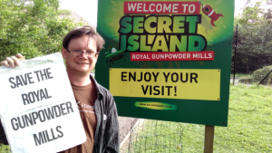 Dave Plummer at the Royal Gunpowder Mills site.