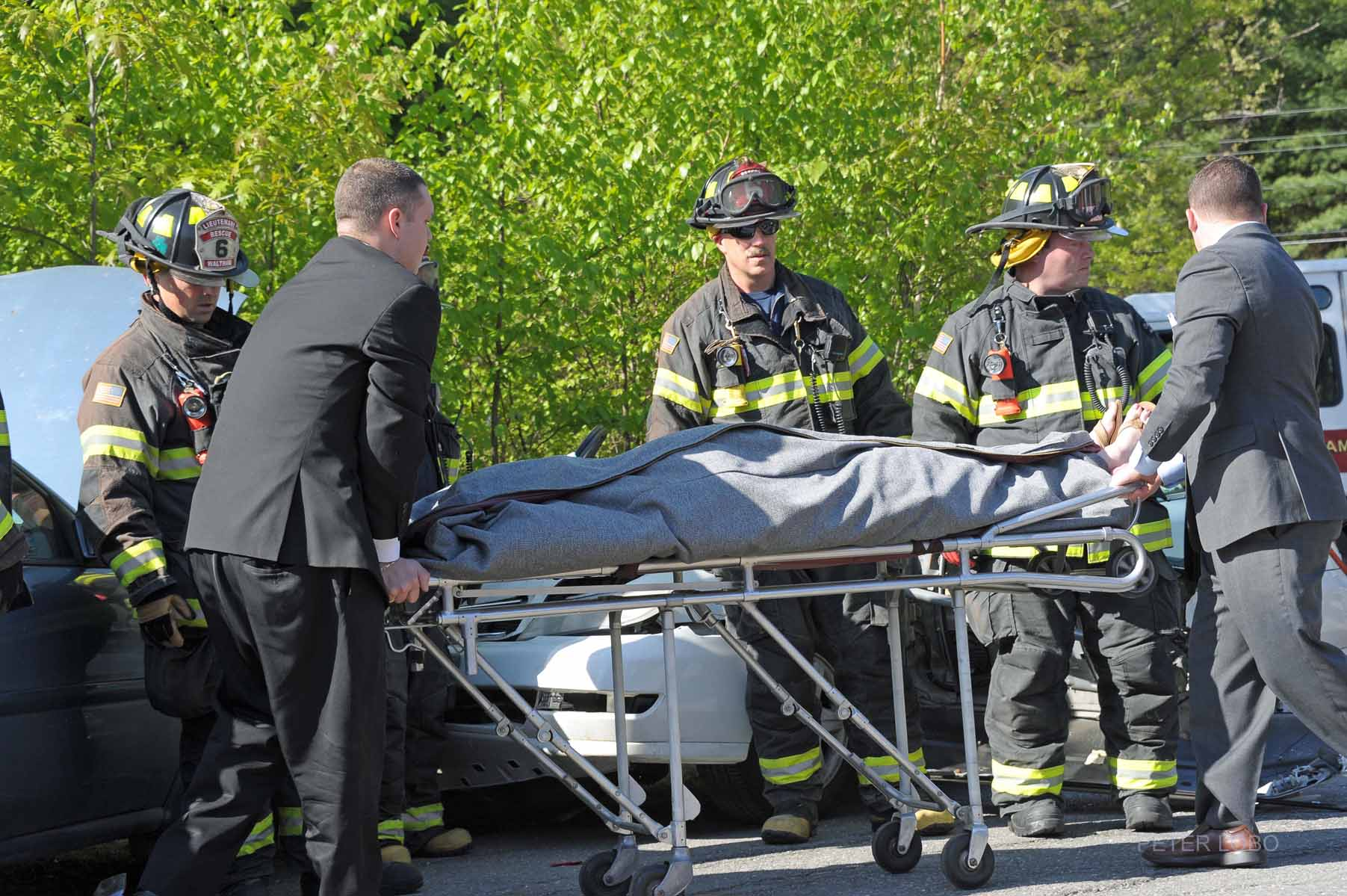 Photos: Waltham Firefighters Conduct Mock Drunk Driving