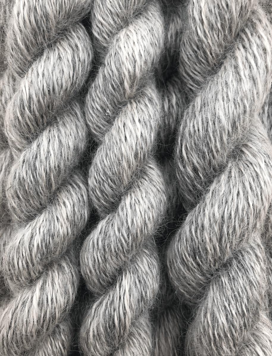 Handspun yarn from Gotland wool