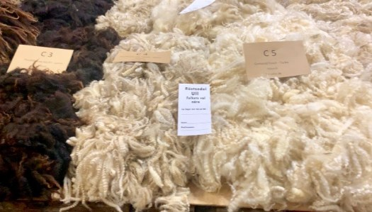 Fleeces of different colours