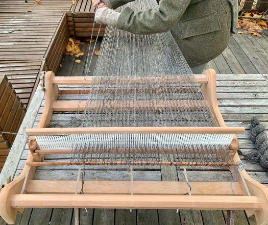 Close-up of a warping outdoors.