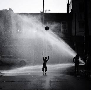 One of Hawes' favorite photos, taken on a side street in Kensington.